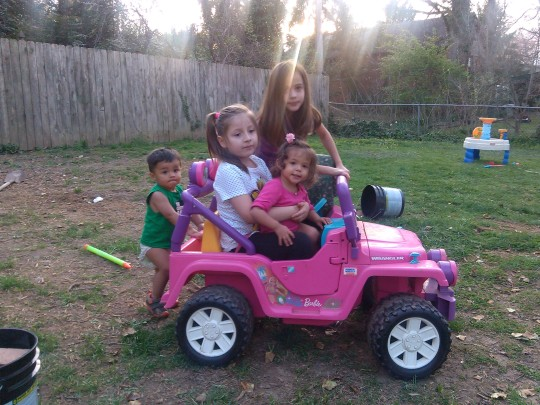 Earthquakers - Micaela Grace, twins brooks and bella barbie car sun