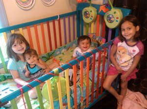 earthquakers twins grace Mica crib