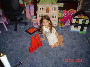 Mica and doll houses a bunch