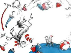 The cat and the hat falling