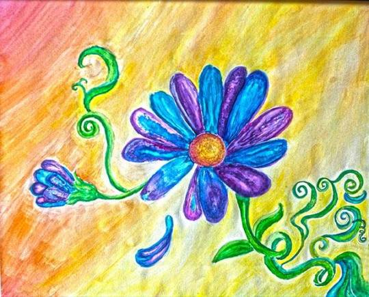 Starlagraph flower painting